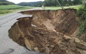 Flood damage to a road in Buffalo County (Photo: WI Emergency Management)
