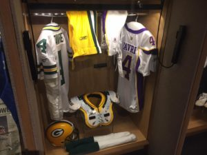 Brett Favre's Hall of Fame Locker / Photo: Lance Allen WTMJ-TV