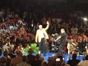 Brett Favre receives Hall of Fame Jacket / Photo: Thanks to Lance Allen-WTMJ-TV