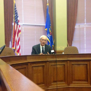 Evers talks to media Thursday at Capitol