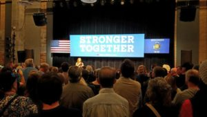 helsea Clinton speaks to a crowd at UW-Stevens Point. (Photo: Zach Hagenbucher)