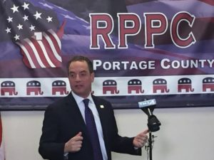 RNC chair Reince Priebus in Portage County. (Photo: WSAU)