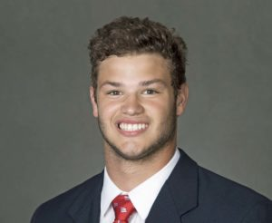 2015 Wisconsin Badger Football portrait of Jack Cichy. (Photo by David Stluka).