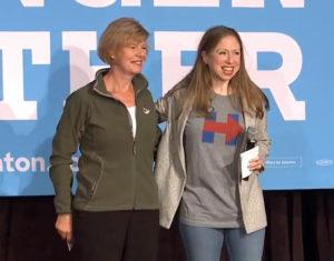 Sen. Tammy Baldwin, Chelsea Clinton in Racine