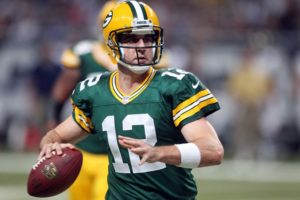 QB Aaron Rodgers       UPI/Bill Greenblatt