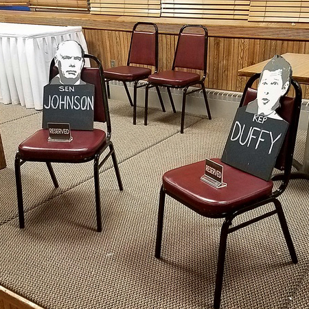 Town Hall targets Duffy and Johnson on ACA