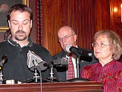 Bill Bingen and Senator Judy Robson (Photo: Jackie Johnson)