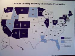 States with anti-smoking laws in place
