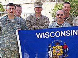 Colonel John Scocos, left. (submitted photo)