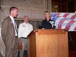 Senator Jim Sullivan, Assemblyman Terry Musser, Lt. Governor Barbara Lawton