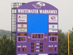 Whitewater video scoreboard