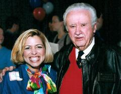 """Former Wisconsin Governor Lee Sherman Dreyfus, pictured here with Hispanic political columnist and Drug Free Communities Commissioner Camille Solberg. """" I really admired his candidness and sense of humor. He will be greatly missed."""""""
