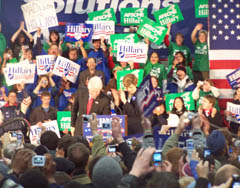 Politician as rock star: Clinton at UW
