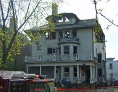 Aftermath at Sigma Phi Epsilon