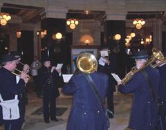 First Brigade Band members in rotunda