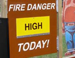 Fire danger sign-WIDNR