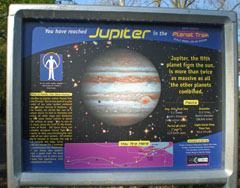 Jupiter on the Planet Trek Dane County trail