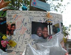 Makeshift memorial (Photo: Jackie Johnson)