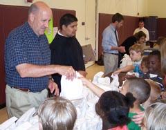 Gov. Doyle at a Madison community center