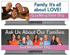 Gay Neighbor billboards