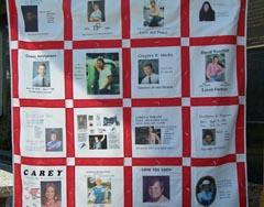 Rememberance quilt IMAGE: Bob Hague