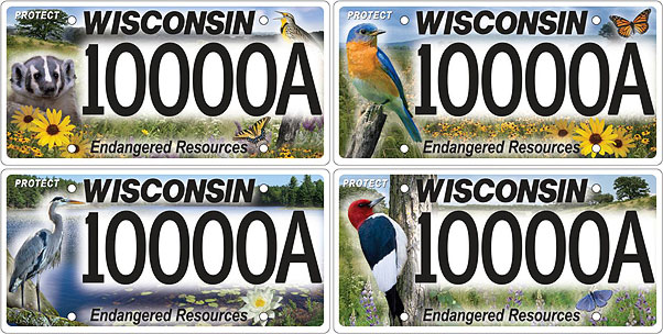 Proposed Endangered Resources license plates