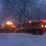 Heavy equipment removes snow in Madison