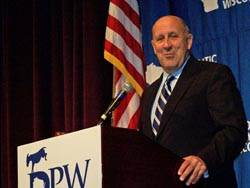 Governor Doyle at the 2009 DPW convention.