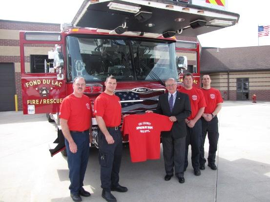 Fond du Lac firefighters (IMAGE: KFIZ)
