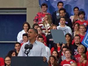 President Obama at UW in 2010