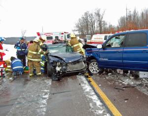 Crash scene PHOTO: Clark Co. Sheriff