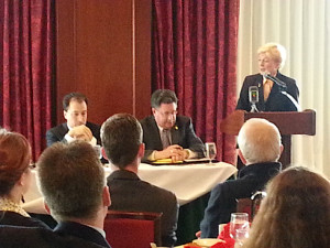 Final Supreme Court debate with Ed Fallone (far left) and Pat Roggensack.