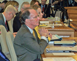 UW System President Kevin Reilly testifies at the Capitol. (Photo: WRN)