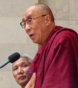 Dalai Lama speaks to full legislature on Tuesday. (PHOTO: Jackie Johnson)