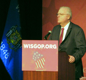 Congressman Jim Sensenbrenner speaks at the GOP convention