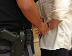 Handcuffed in Capitol