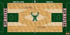 Milwaukee Bucks new court