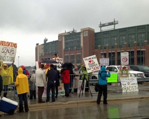 Redskin protest