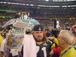 Josh Sitton after 2010 Super Bowl win