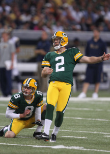 Mason Crosby - UPI/Bill Greenblatt