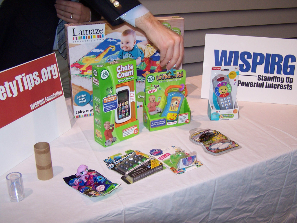 A sample of toys found in this year's Trouble in Toyland report. (Photo: WRN)