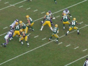Matt Flynn looking downfield