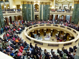 Veterans Day ceremony, with emphasis on Vietnam Veterans, at the Capitol on Friday. (PHOTO: Jackie Johnson)