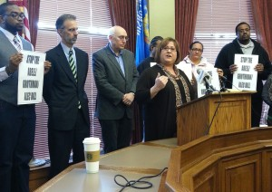Group of leaders opposed to living wage ordinance ban speaks out