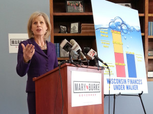 Democratic gubernatorial candidate Mary Burke