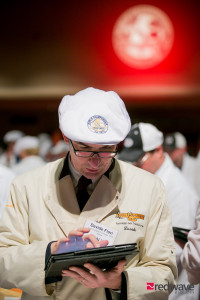 Davide Fiori from Italy judges cheese in Madison, Wisconsin. (PHOTO: World Cheese Championship Contest)