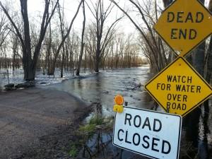 Chippewa River overflow a year ago. (PHOTO: Jackie Johnson file 05/08/13)