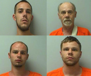 From left to right: Jacob Gould, Jerald Gould, Jeremy Gould, Jerrod Gould