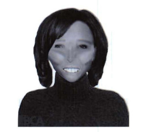A composite sketch released by police of the woman identified as Jenny Gamez.