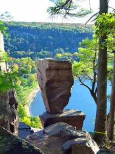 Balanced Rock at Devil's Lake State Park in south central Wisconsin. (PHOTO: Jackie Johnson)